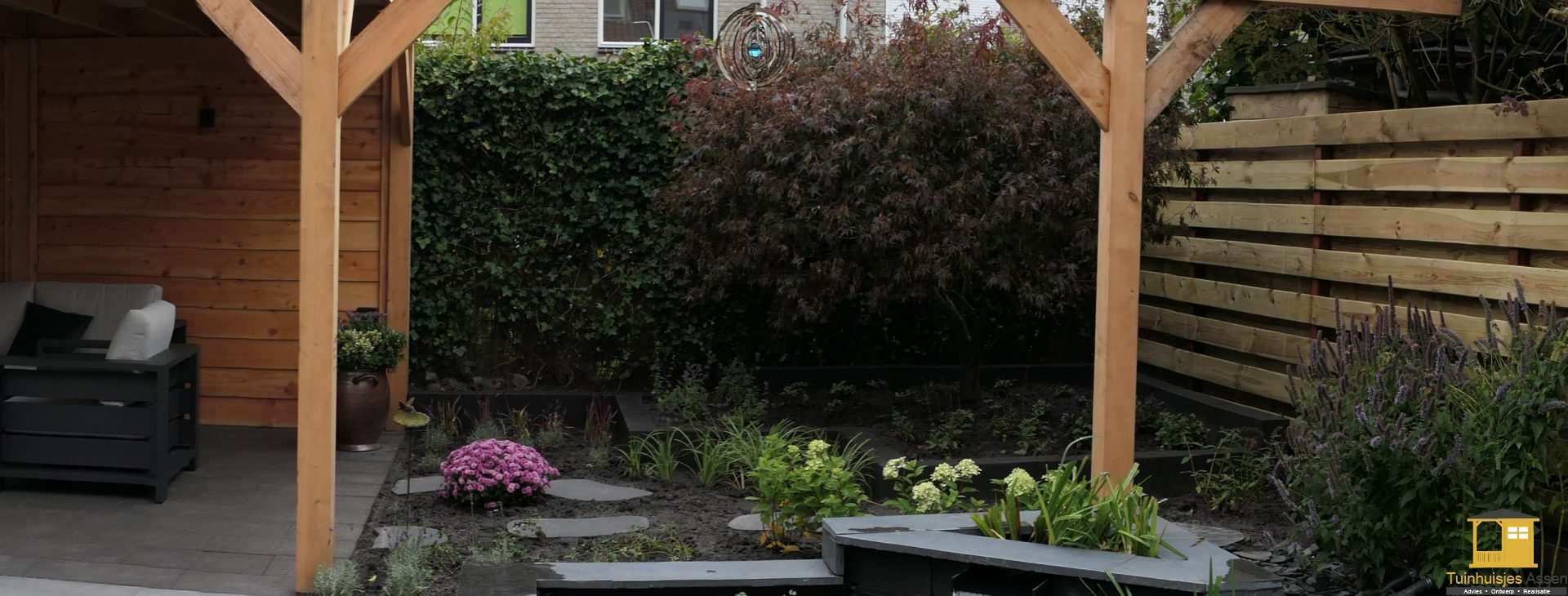 Tuinhuisjes-Assen-Tuinhuisjes, pergola, schuttingen en overkappingen