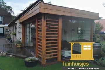 Tuinhuisjes Assen - overkapping met beglazing